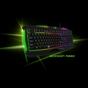 Геймърска клавиатура GENIUS K220 Scorpion Gaming Black