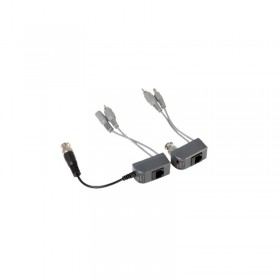 UTP Балун 2-pack Power-Video-Audio, RJ45/BNC, Q-See QSBVAP2